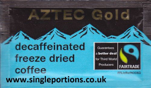 AZTEC Gold - DECAFF coffee single portion sachets